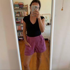 UNIQLO purple high waisted shorts 🐙⭐️